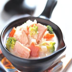鮮奶鮭魚燉飯