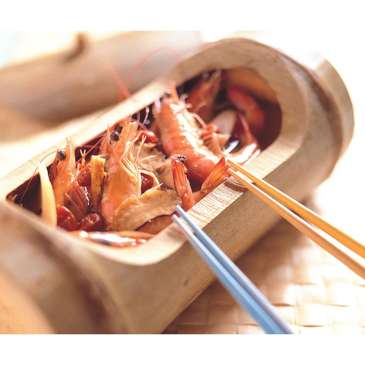 食譜:竹筒燒酒蝦