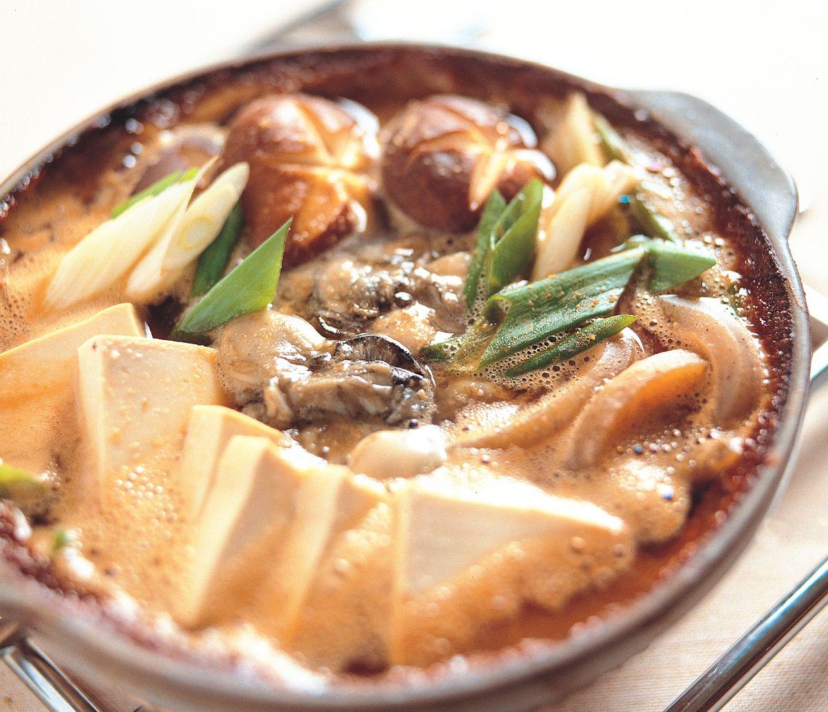 食譜:味噌牡蠣鍋