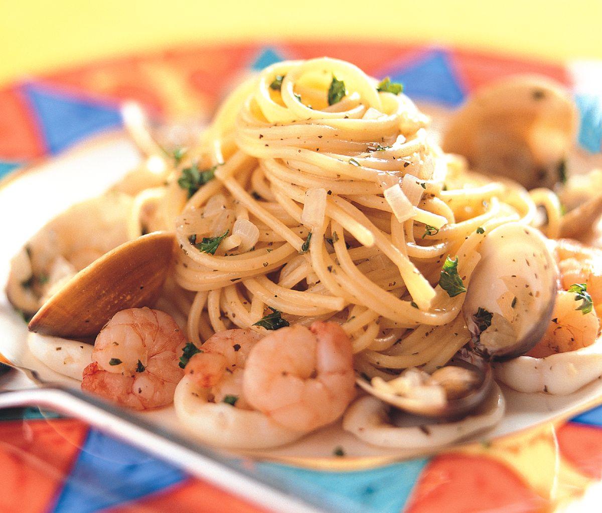 食譜:義大利海鮮麵