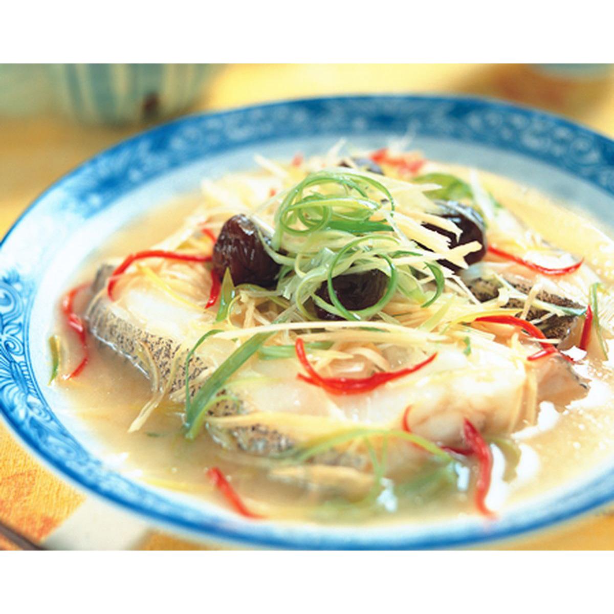食譜:醃梅蒸鱈魚