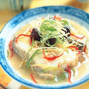 醃梅蒸鱈魚