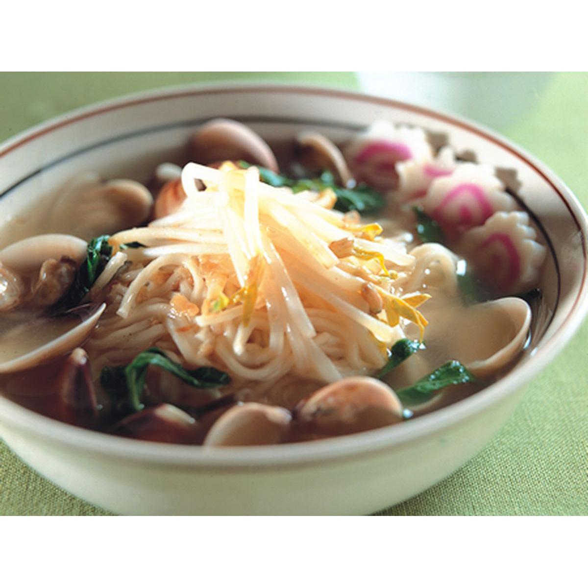 食譜:蚌麵