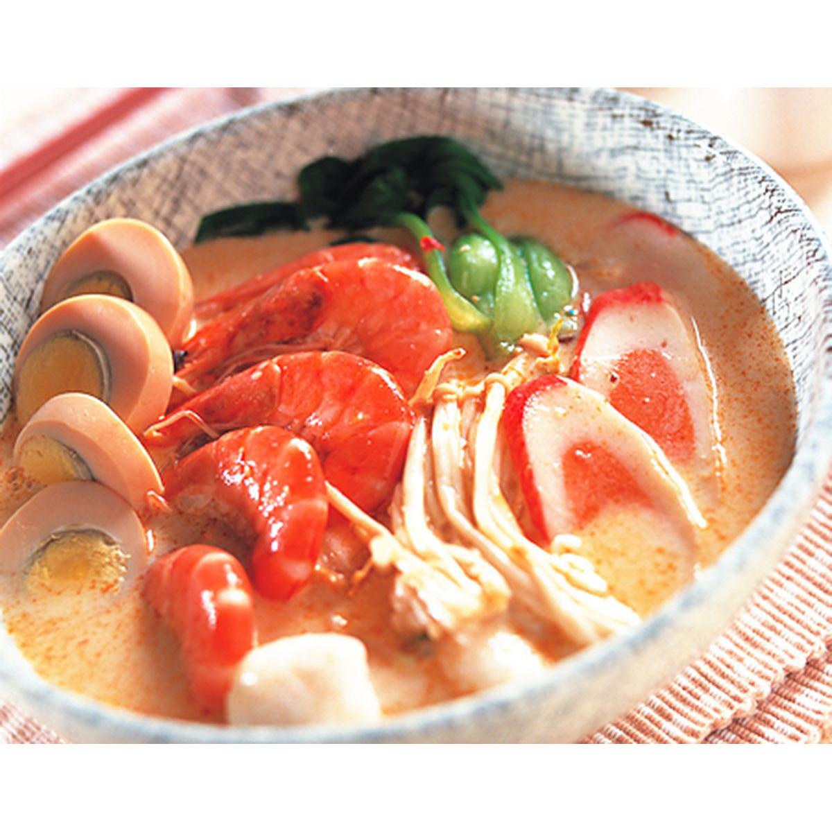 食譜:新加坡力沙麵