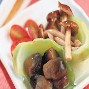 芥菜心燴雙菇