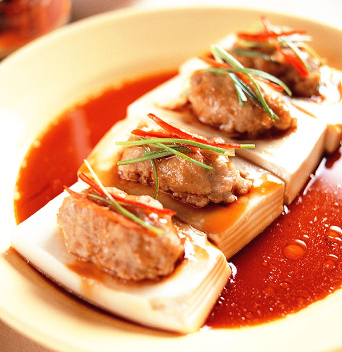 食譜:蒸鑲豆腐