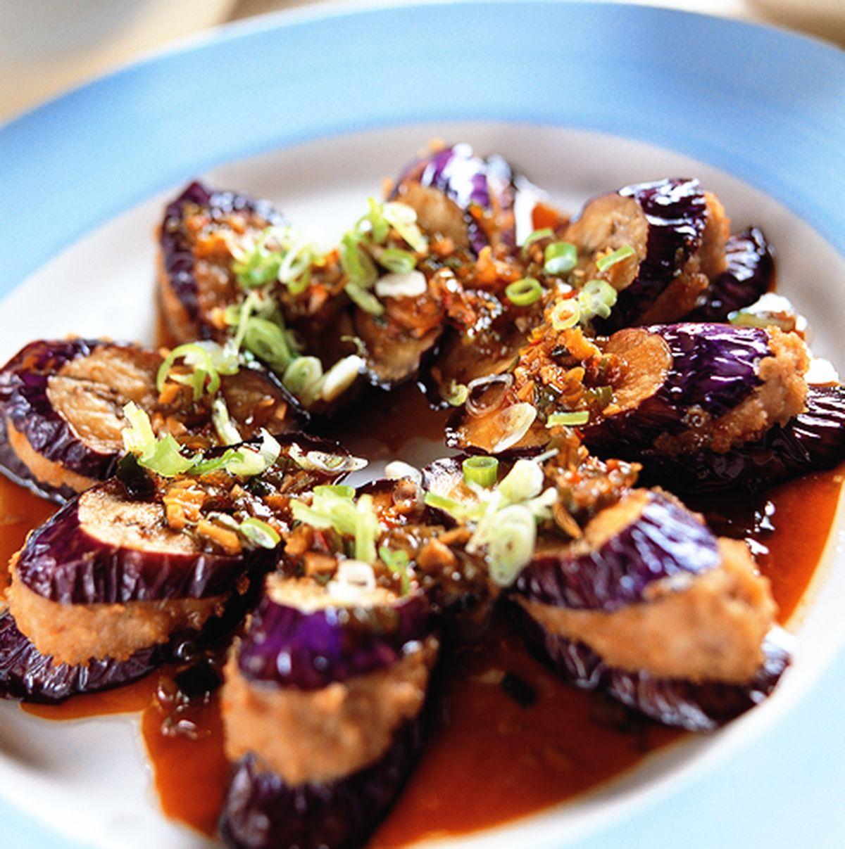 食譜:茄子鑲肉