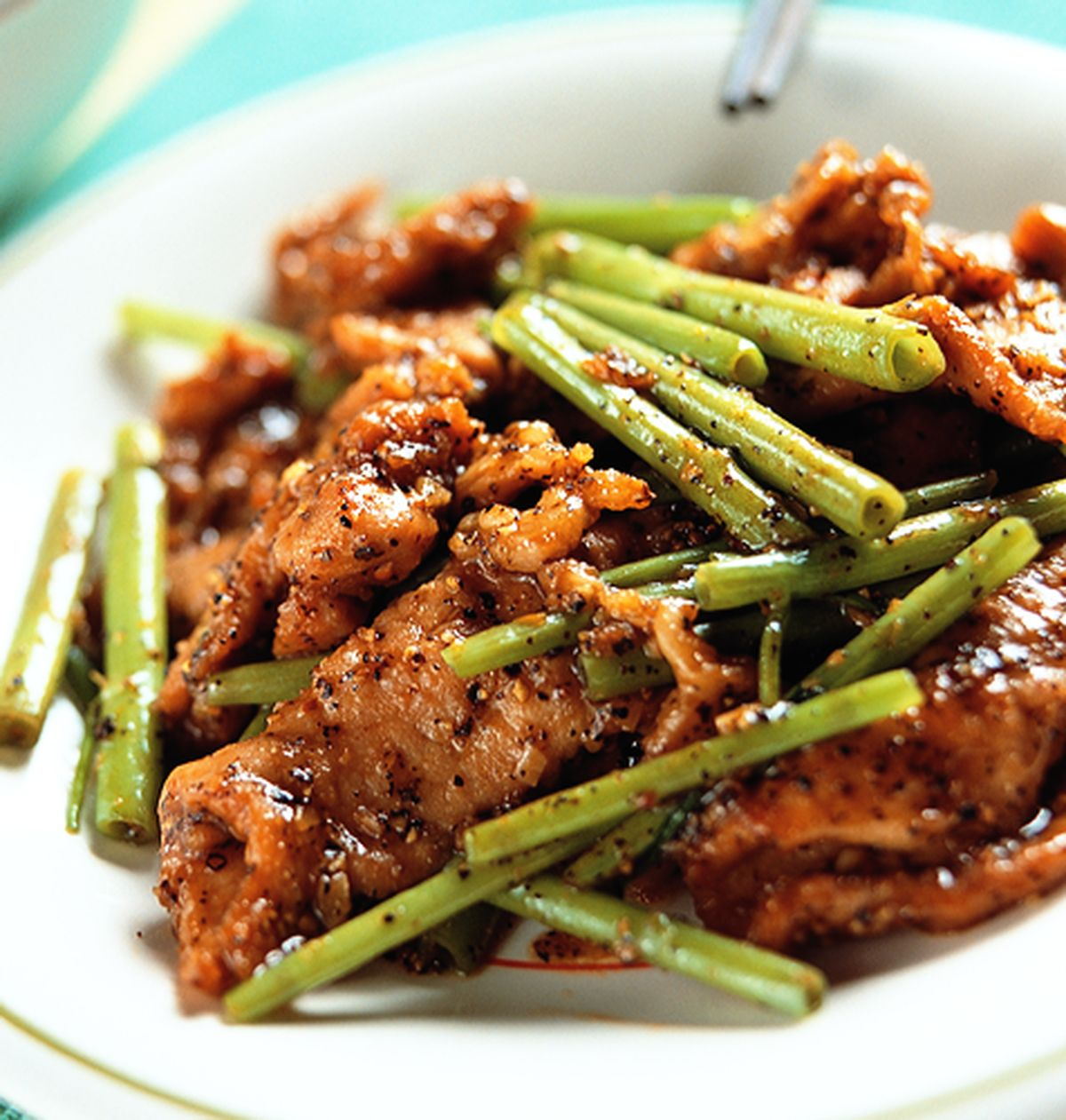 食譜:黑胡椒肉片