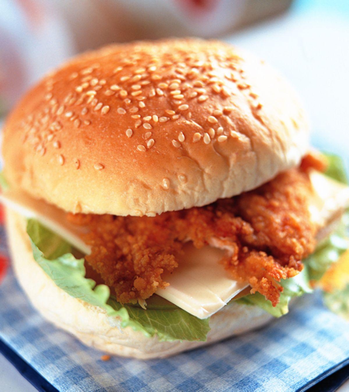 食譜:雞肉起士漢堡