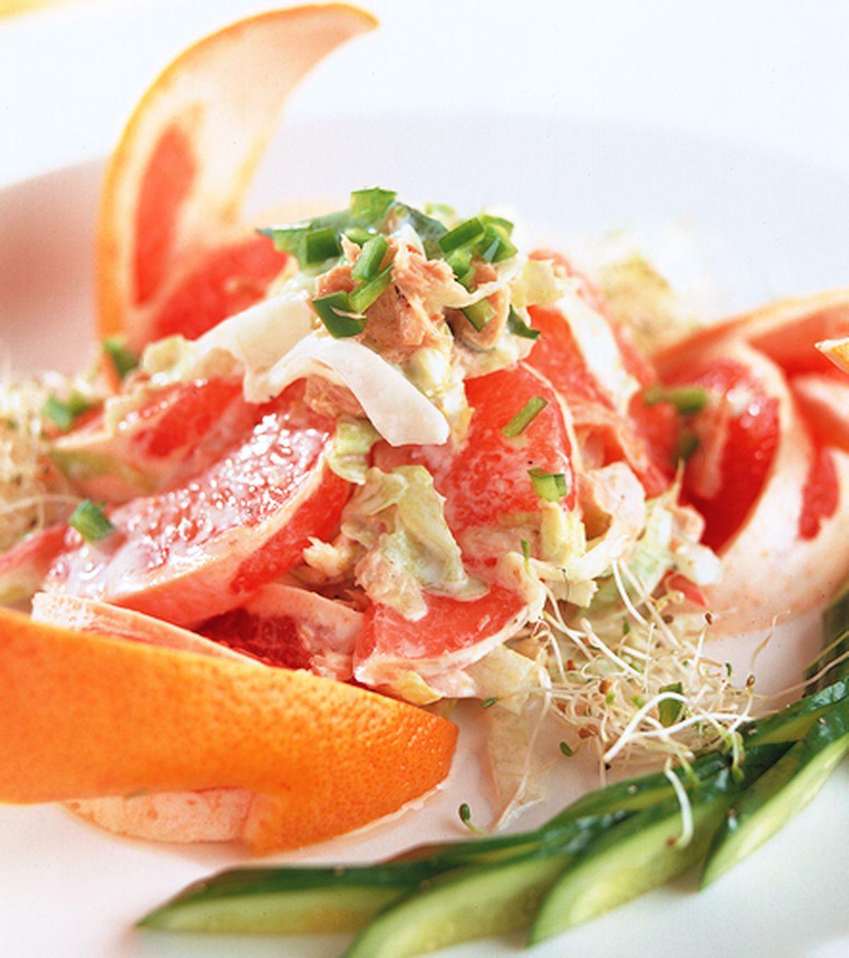 食譜:香柚鮪魚沙拉