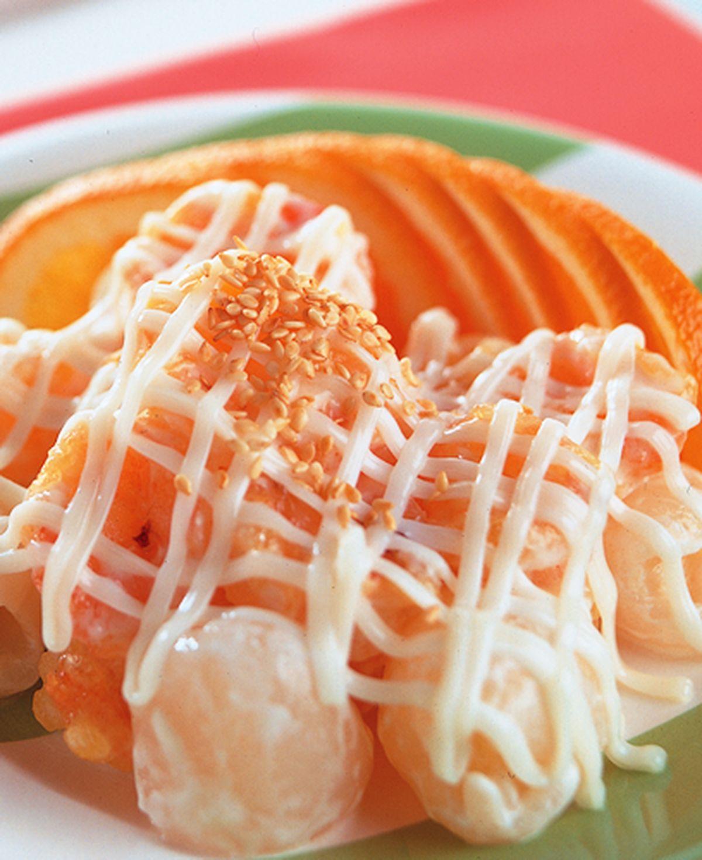 食譜:紅毛丹蝦球