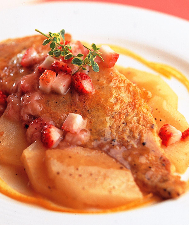 食譜:酒梨鯛魚
