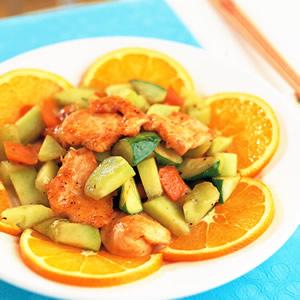 雞胸清炒蜜瓜