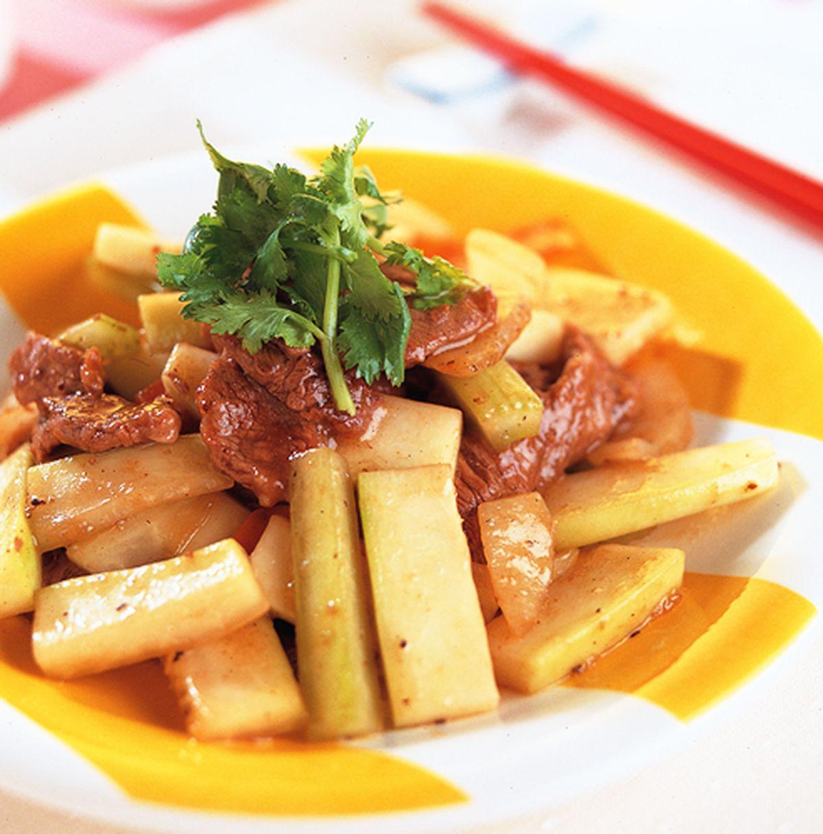 食譜:木瓜炒牛肉
