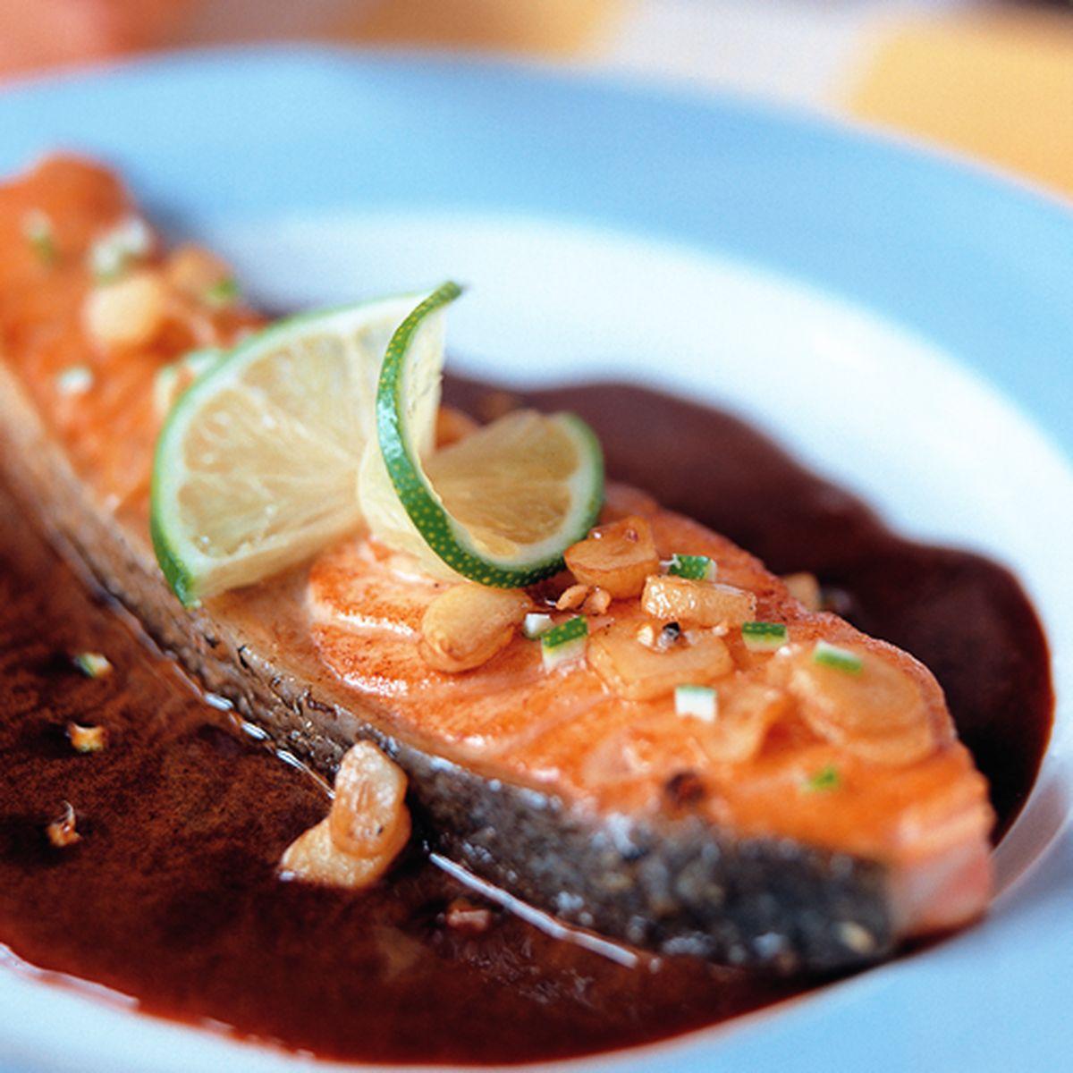 食譜:蒜香魚排