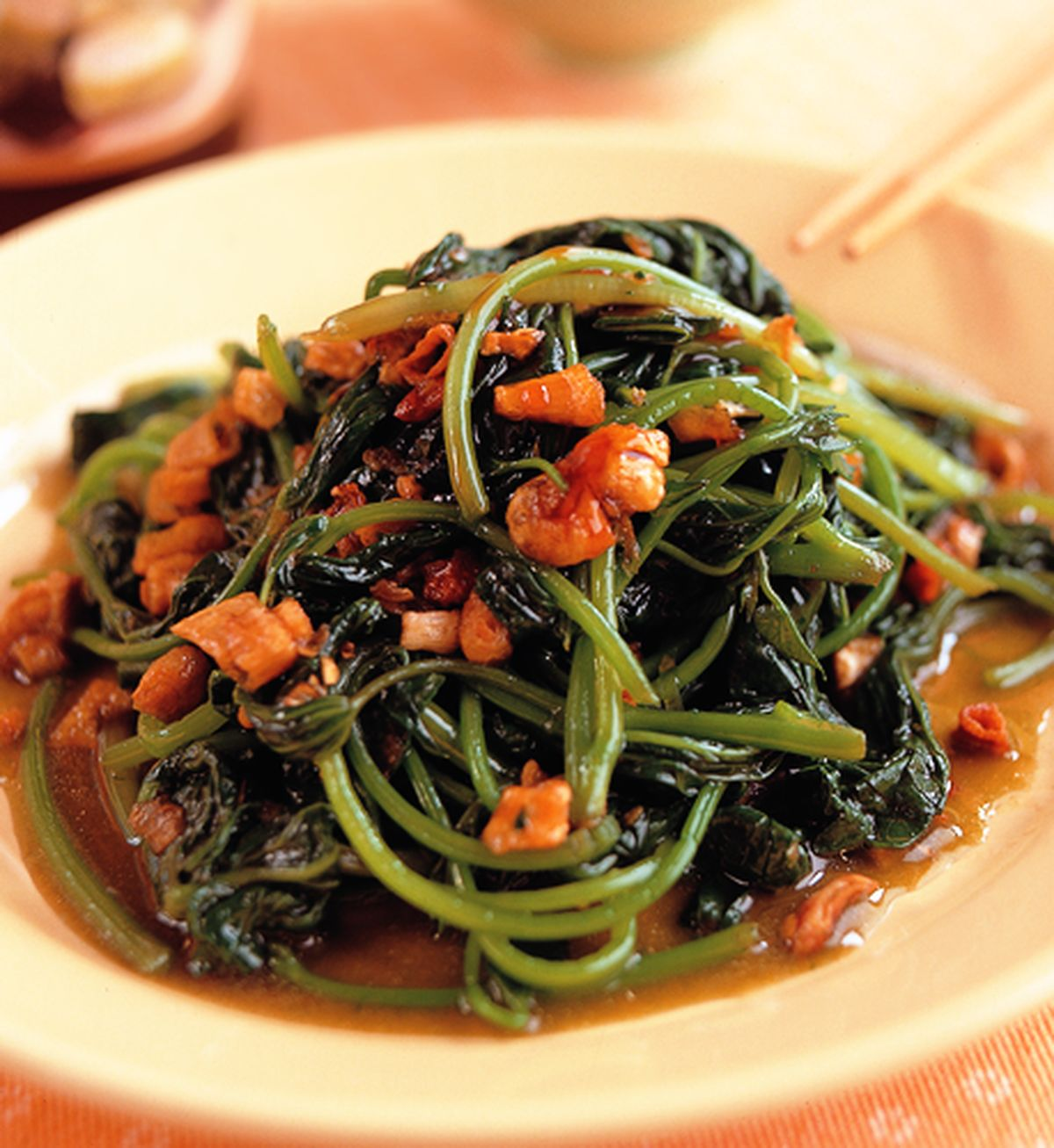 食譜:蔥油拌地瓜葉