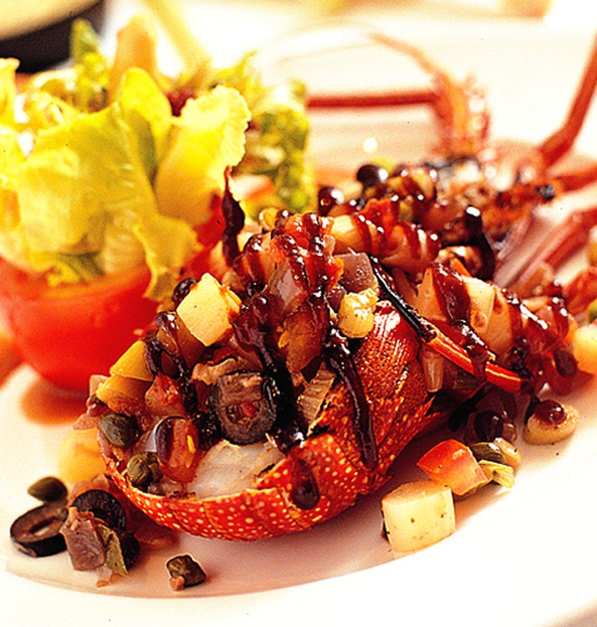 食譜:炭烤龍蝦佐蘆筍老酒醋醬汁