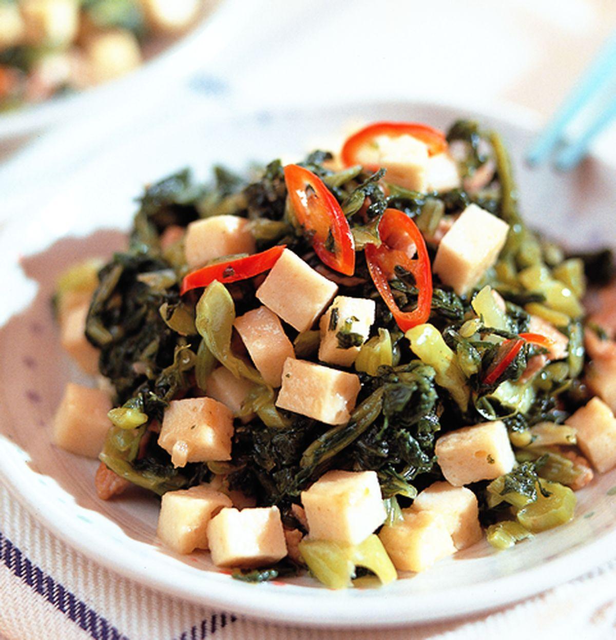 食譜:雪菜炒百頁