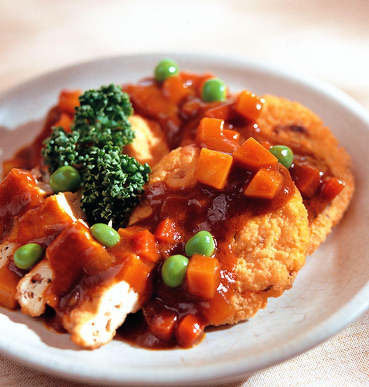 食譜:咖哩豆腐餅