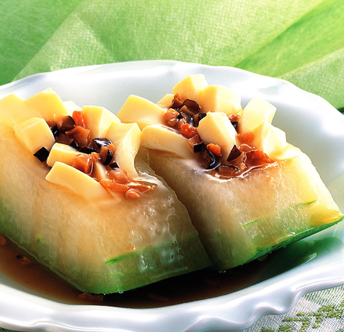 食譜:豆腐冬瓜盒