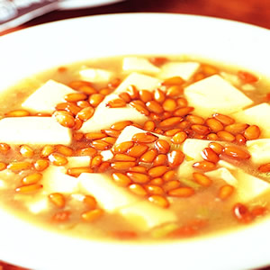 松子火腿豆腐