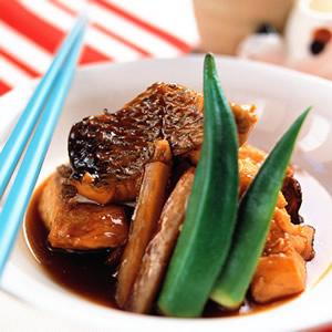 嫩燒魚肉塊