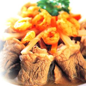 銀絲金鉤牛肉