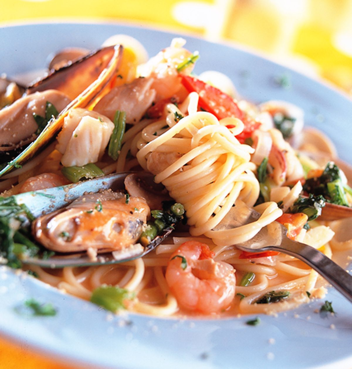 食譜:海鮮冷麵