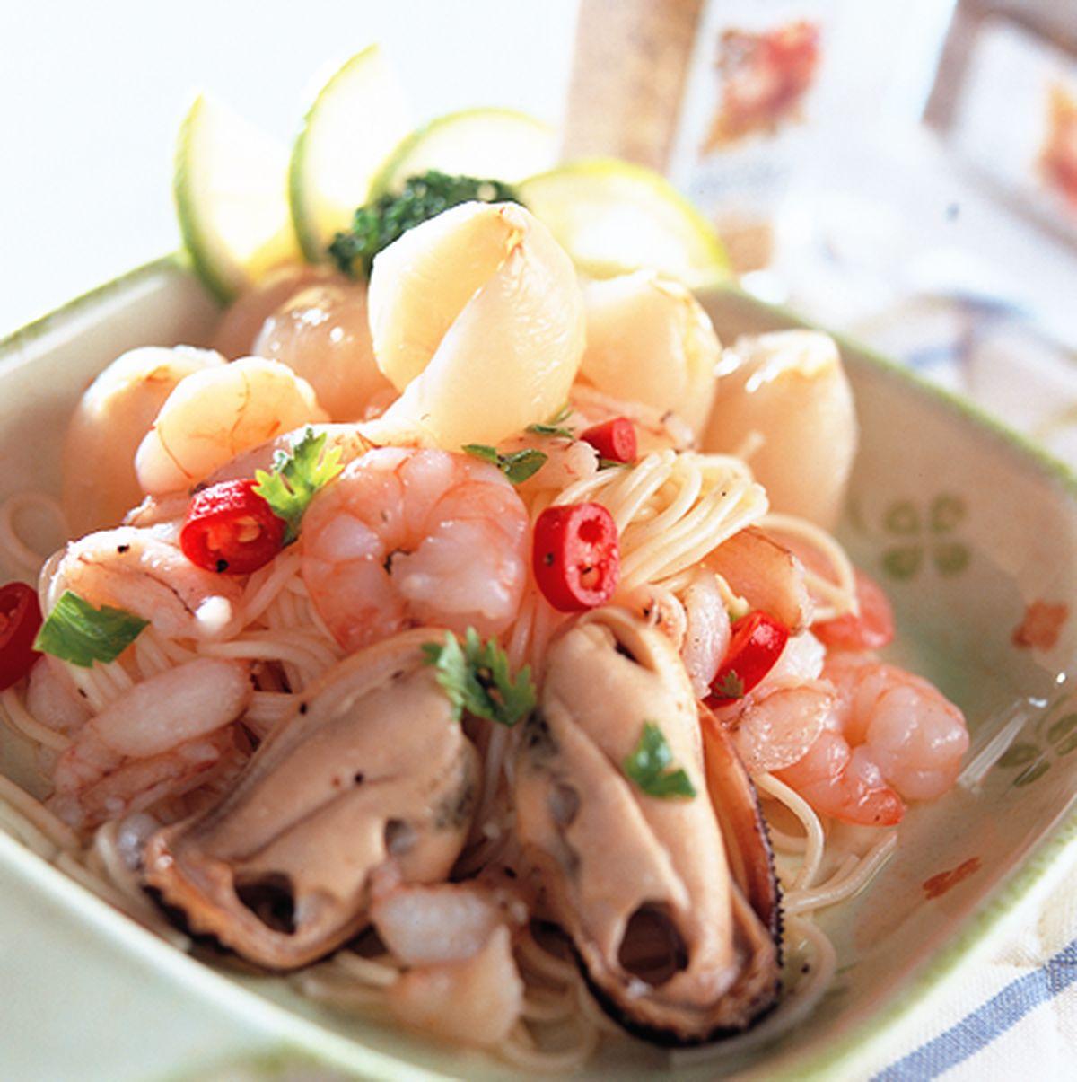 食譜:荔枝海鮮麵