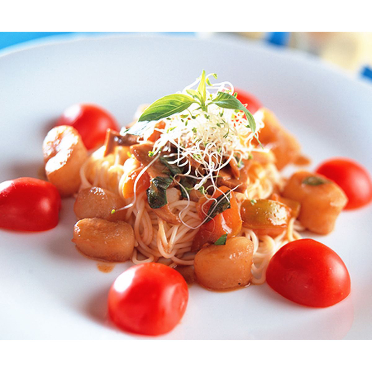 食譜:鮮蔬干貝麵