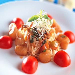 鮮蔬干貝麵