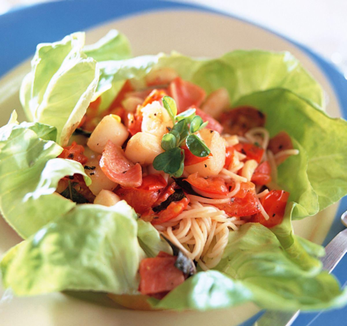 食譜:培根干貝麵