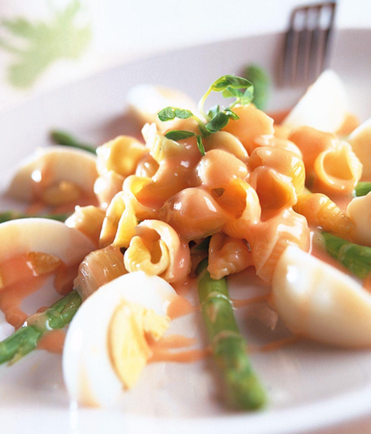 食譜:蘆筍貝殼沙拉