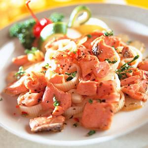 鮭魚車輪麵