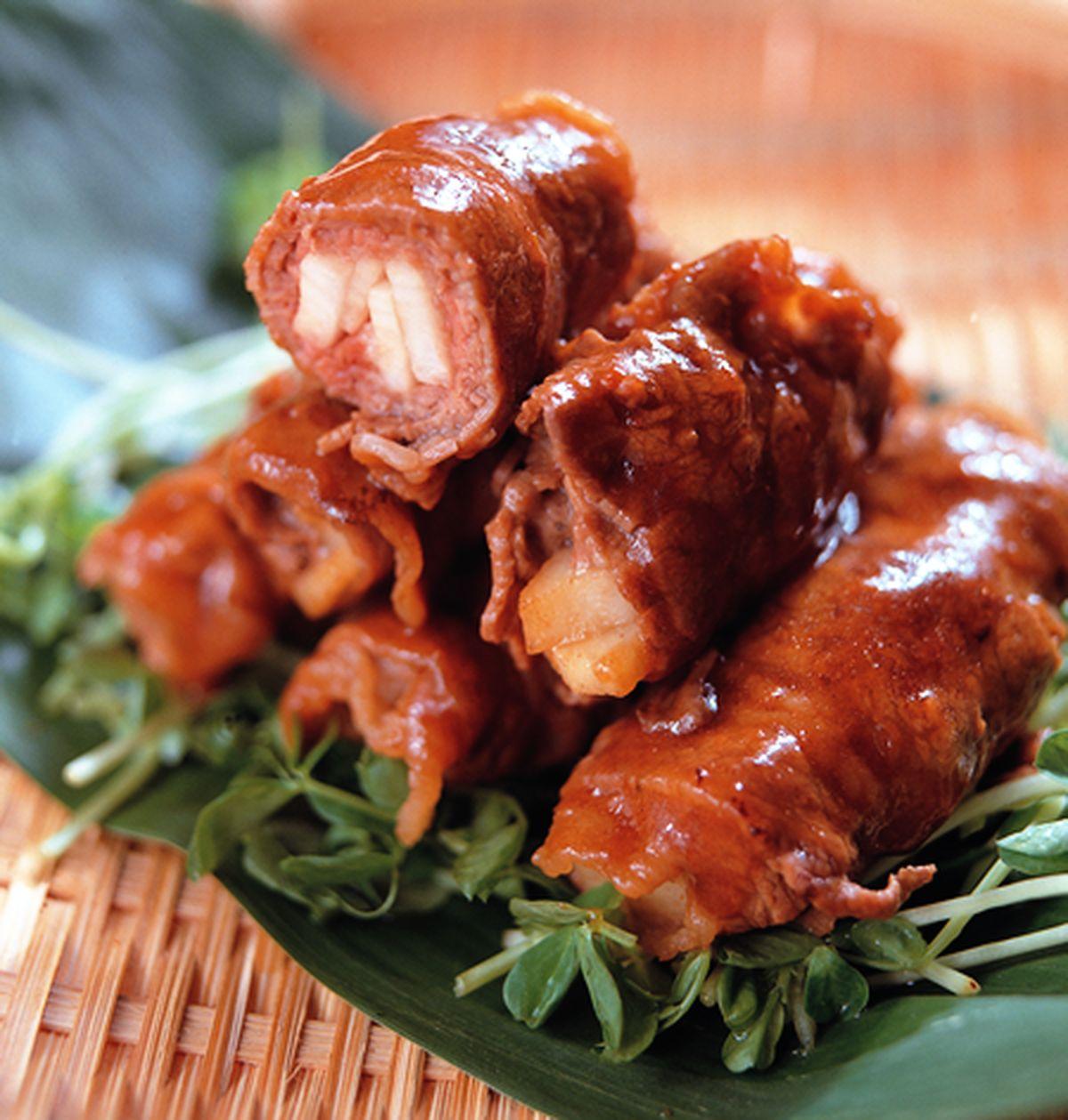 食譜:醬燒牛肉捲
