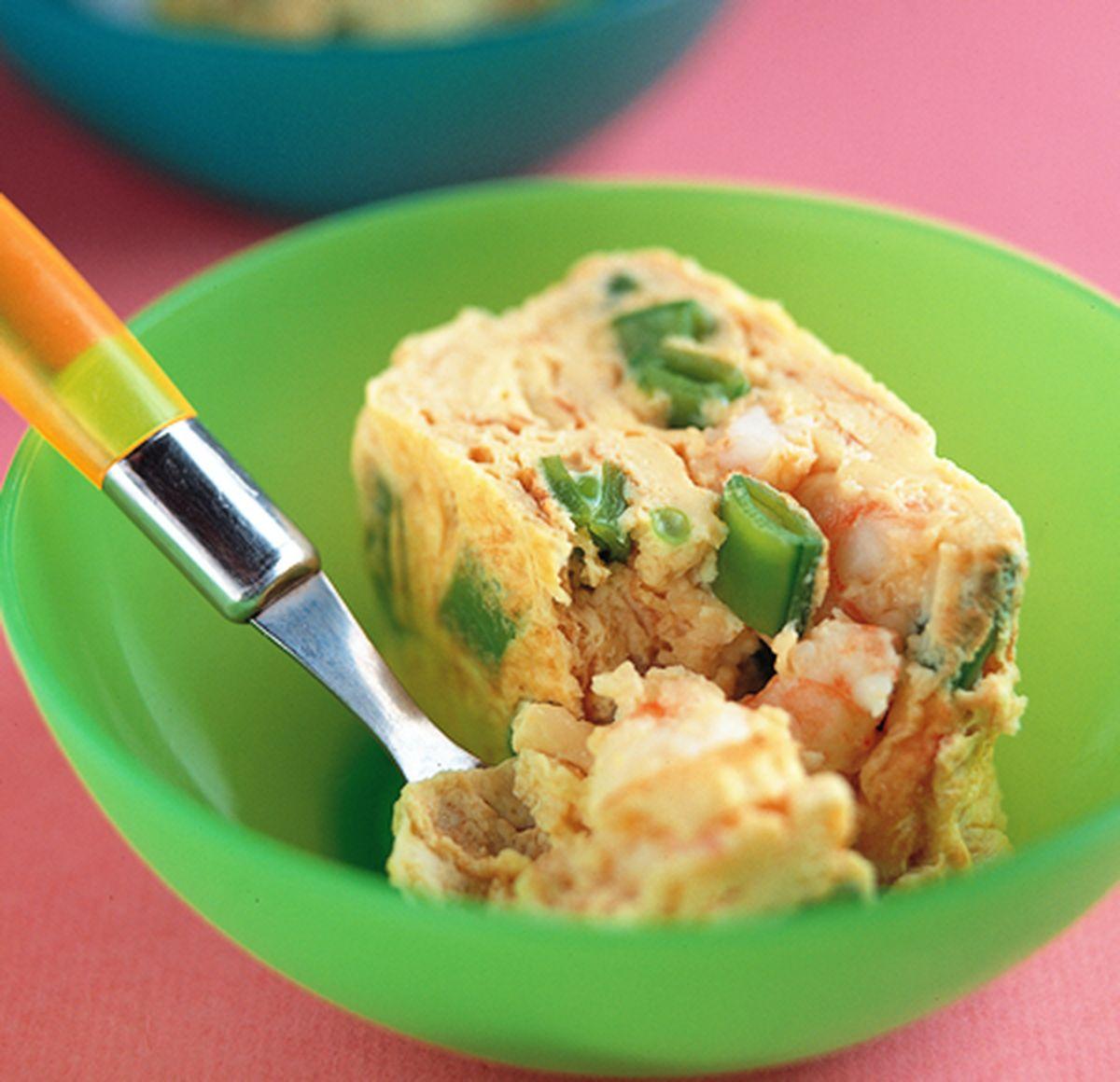 食譜:鮮蝦風味厚蛋煎