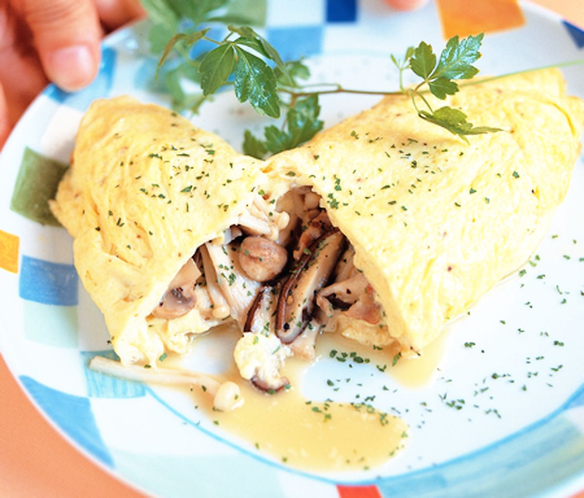 食譜:鮮菇蛋包