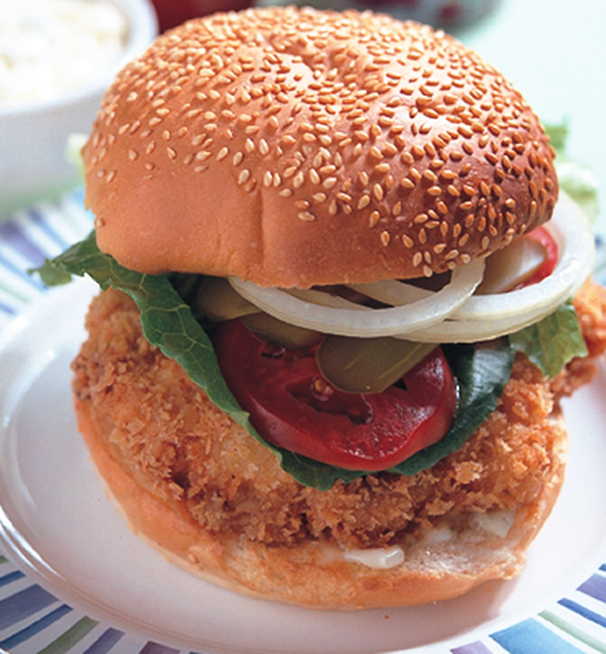 食譜:雞排漢堡