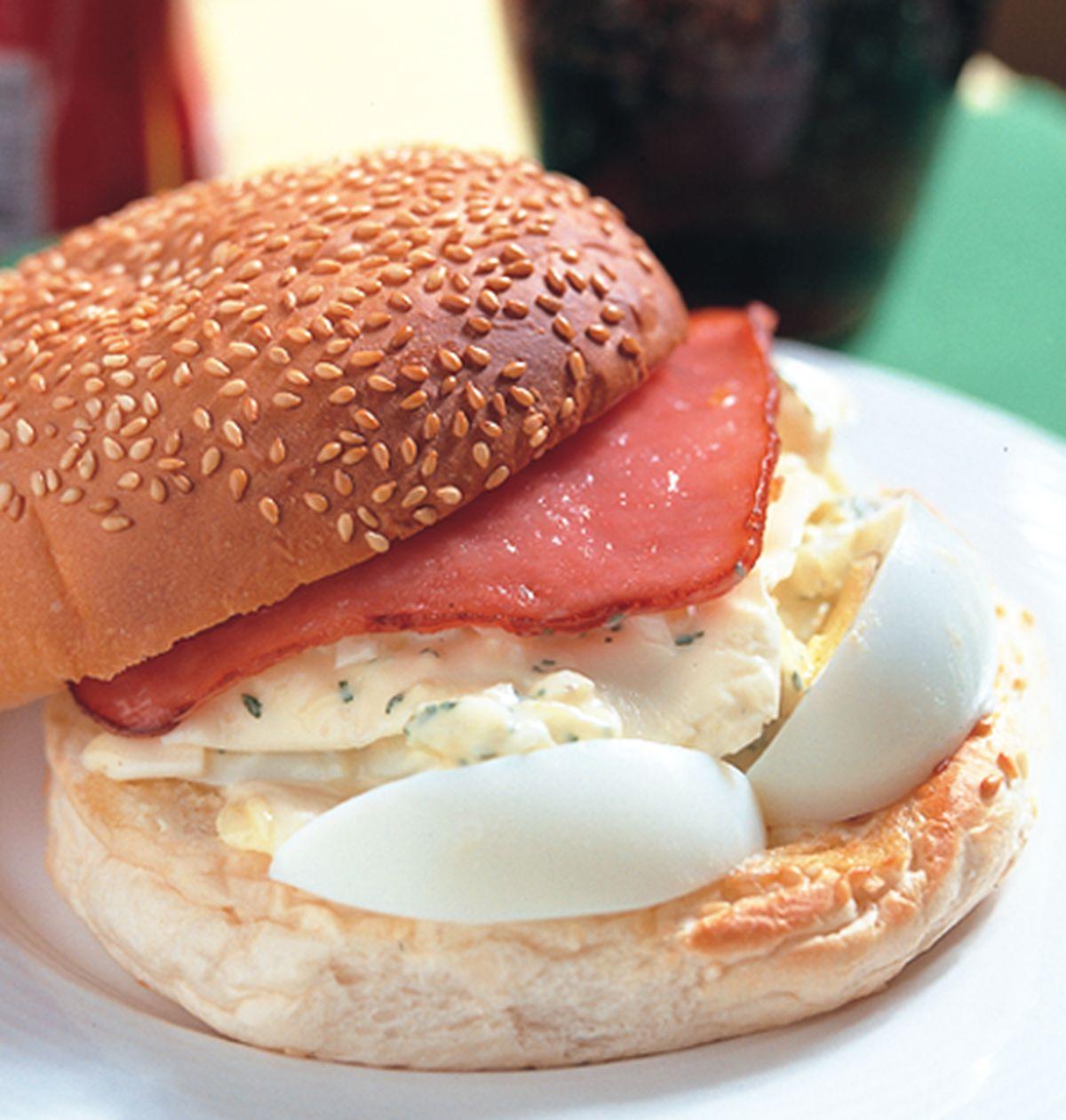 食譜:起士蛋漢堡