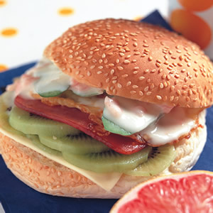 香柚奇異果漢堡