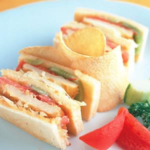 洋芋鮮果三明治