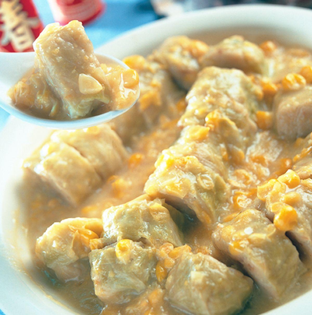 食譜:玉米燴高麗菜捲