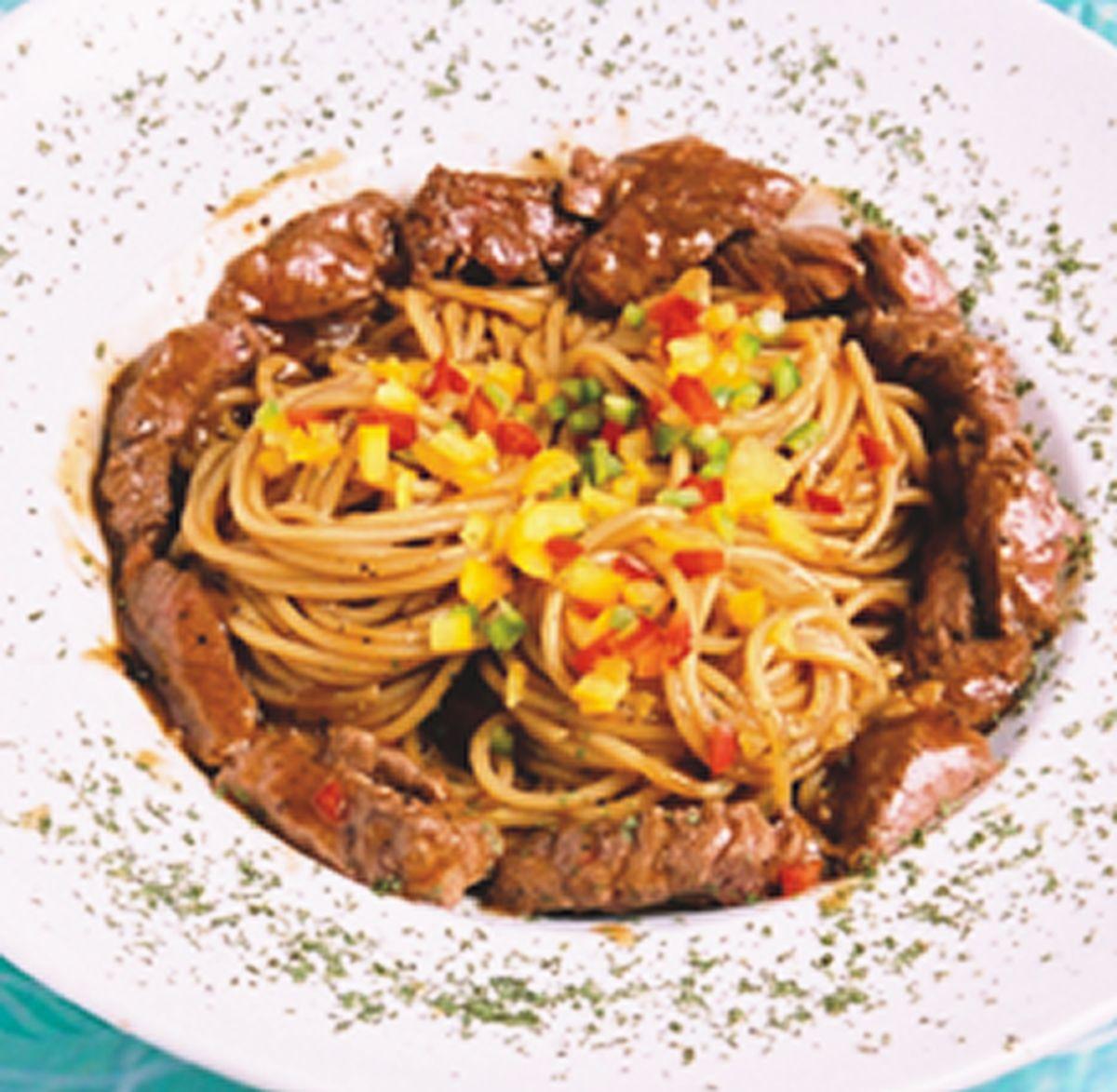 食譜:彩椒牛肉義大利麵