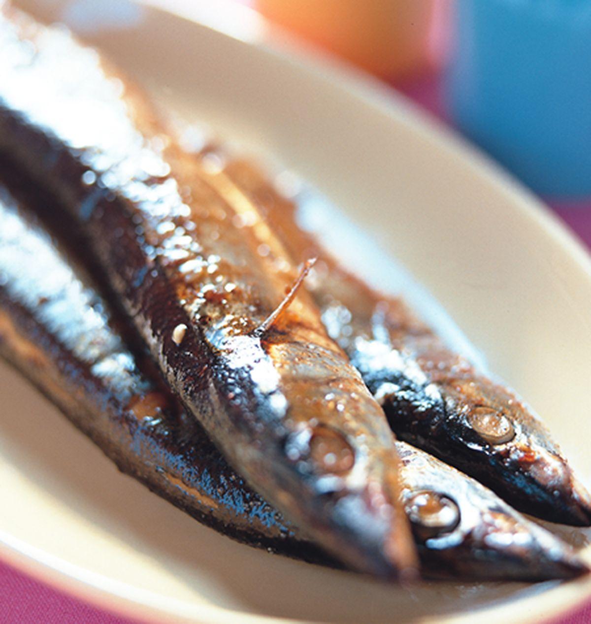 食譜:烤秋刀魚