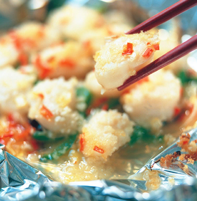 食譜:五彩烤干貝