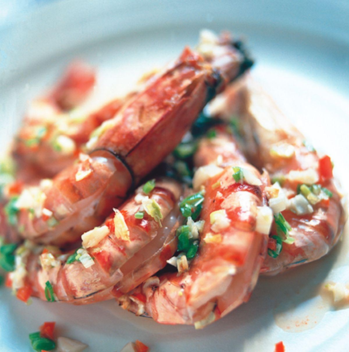 食譜:乾焗青蒜蝦