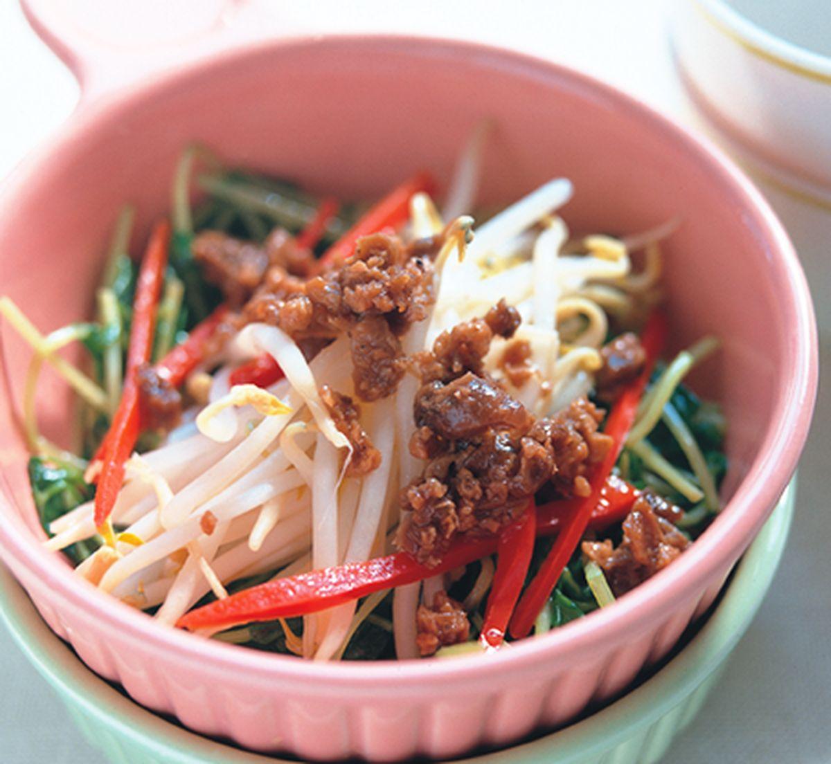 食譜:黑胡椒豆芽菜