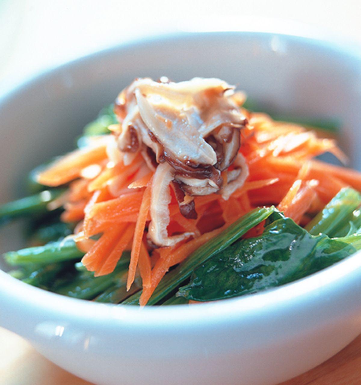 食譜:菠菜紅絲