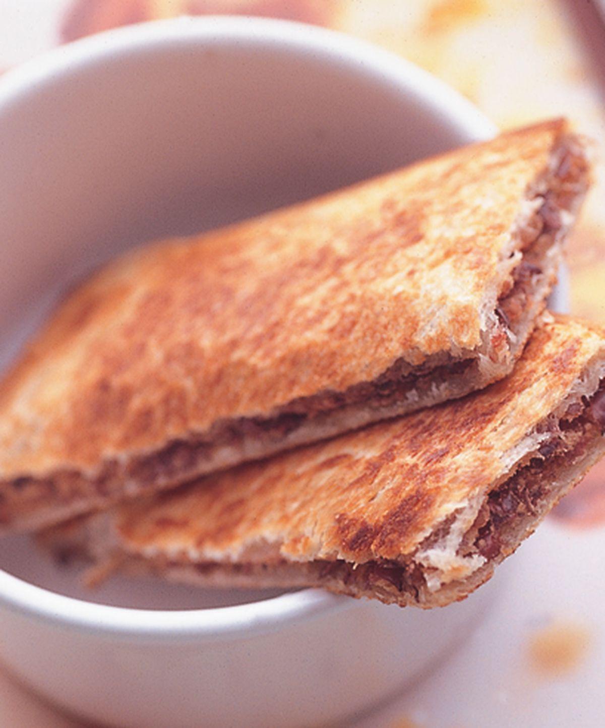 食譜:香酥紅豆土司