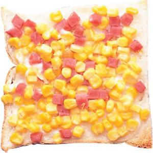 玉米沙拉土司